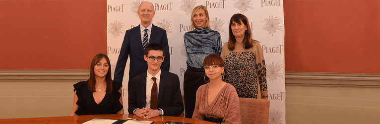 piaget sponsorship for students in jewellery design from the HEJ