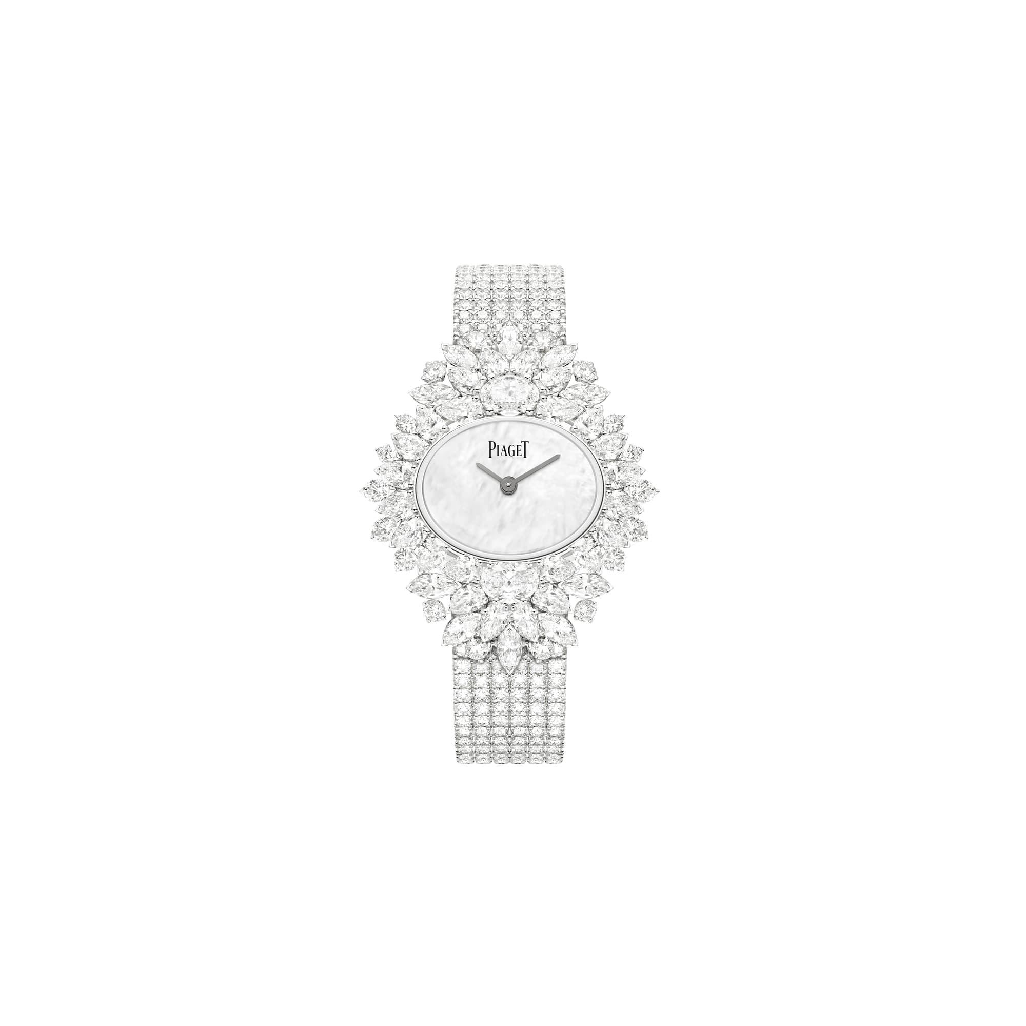 하이 주얼리 화이트 골드 다이아몬드 시계