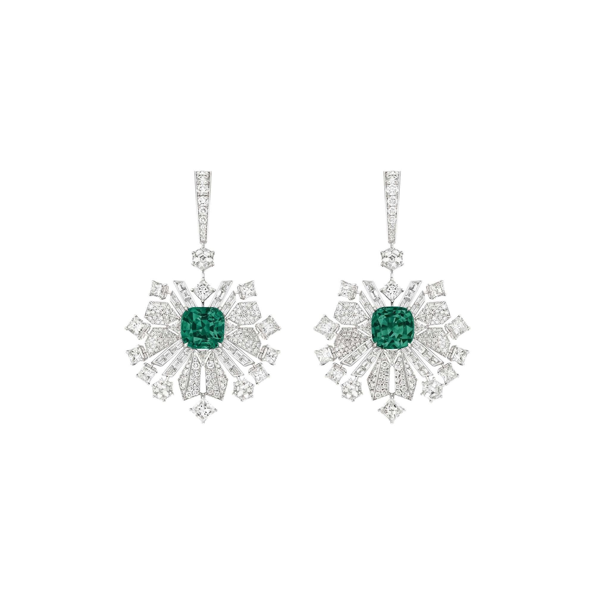 boucles d'oreilles en diamants haute joaillerie piaget