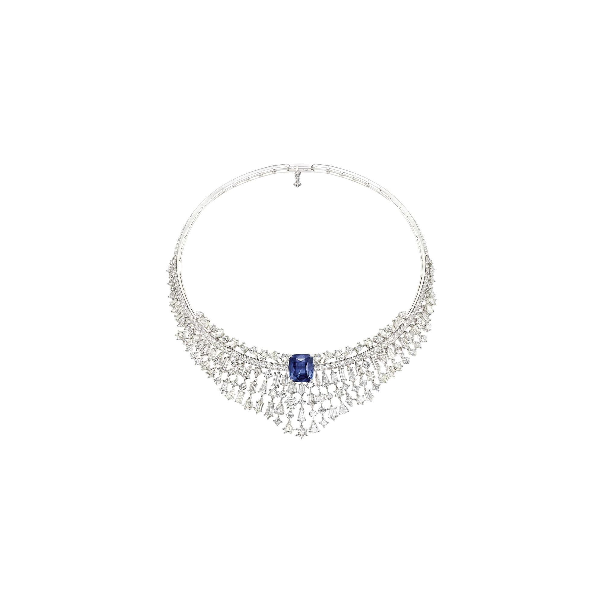 collier en diamants et saphirs haute joaillerie piaget