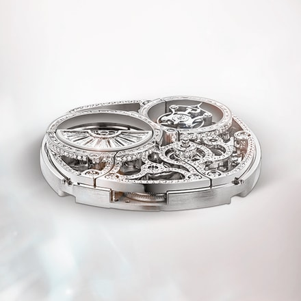 Piaget luxury watch movement: tourbillon skeleton ultra-thin