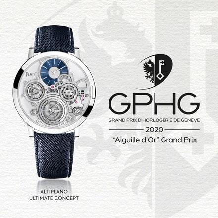 「金指針獎(Aiguille d'Or)」得獎者:伯爵Altiplano Ultimate Concept終極概念機械腕錶