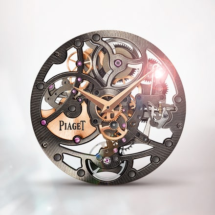 Piaget 1200S Black ultra-thin skeleton self-winding mechanical movement