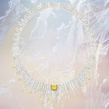Collier en diamant jaune de haute joaillerie