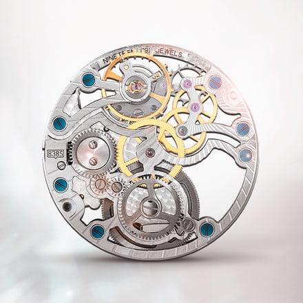 حركة هيكلية ميكانيكية رمادية ذات تعبئة يدوية فائقة الرقة بياجيه 838S