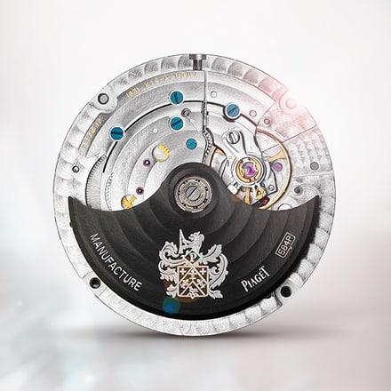 Механизм Piaget 584P Black с указателем фаз Луны и автоподзаводом