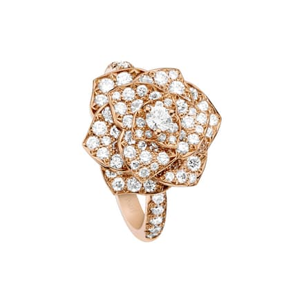 Piaget Rose diamond ring in rose gold