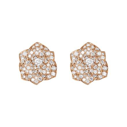 Piaget Rose diamond earrings