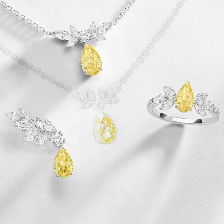 Bijoux en diamant jaune : haute joaillerie Piaget Treasures