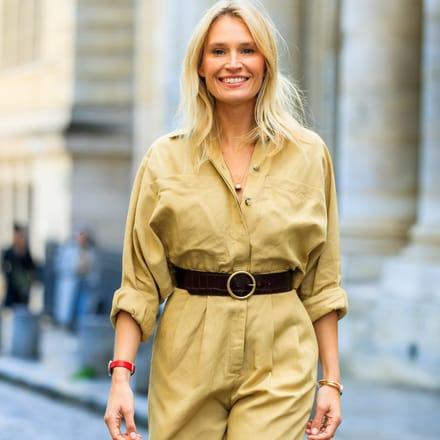 India Weber portant une montre de luxe et bracelets ouverts Possession