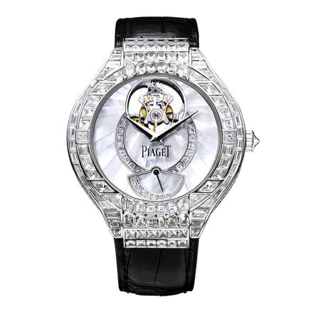 luxury tourbillon watch set with diamonds