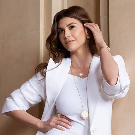 Shiva Safai wearing Piaget Sunlight luxury jewellery