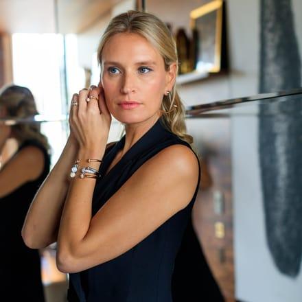 India Weber brille avec les bijoux en or rose Possession