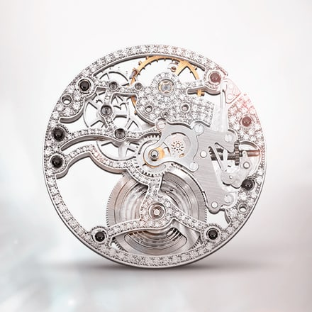 Piaget 838D ultra-thin gem-set skeleton watch movement
