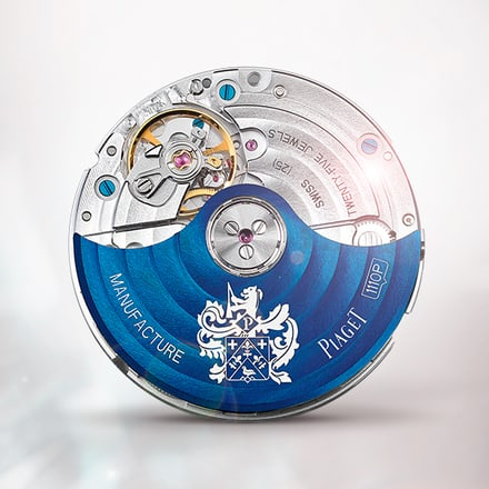 Mouvement mécanique automatique Piaget 1110P Bleu