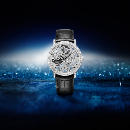 Piaget ultra-thin watch in white gold and diamonds