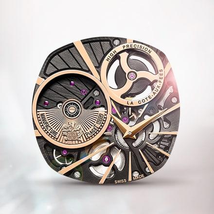 Ультратонкий высокоточный механизм Piaget 700p из розового золота с автоподзаводом