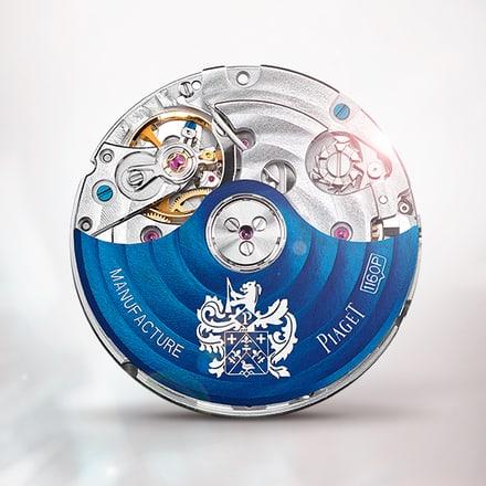 حركة كرونوغراف ميكانيكية أوتوماتيكية زرقاء بياجيه 1160P