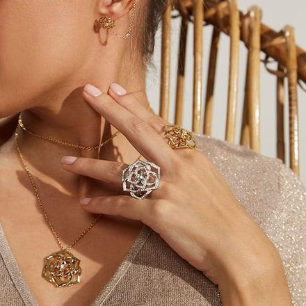 Piaget white gold and diamond jewelry