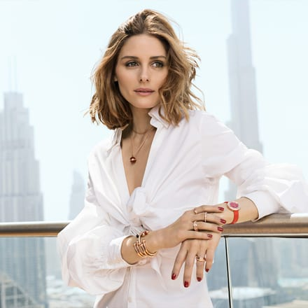 Olivia Palermo wears Piaget Possession gold jewellery and watch