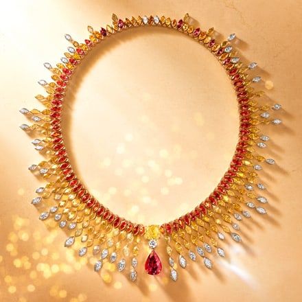 piaget high jewelry necklace, luxury jewelry