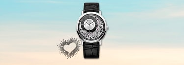 White gold ultra-thin watch for Valentine's day