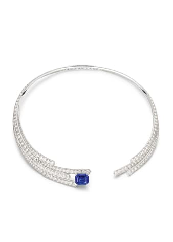 Piaget necklace in white gold, sapphire and diamonds