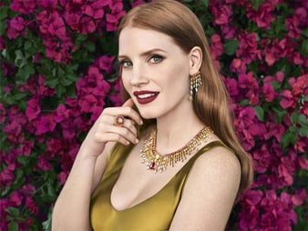 jessica chastain high jewellery
