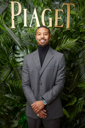 Michael B. Jordan with a Piaget Polo luxury watch