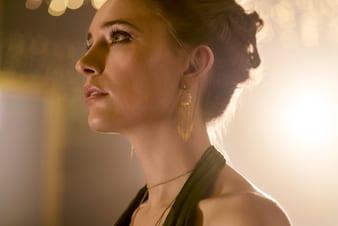 女士玫瑰金耳環