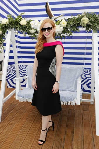 Jessica Chastain in Piaget high jewellery in Cannes