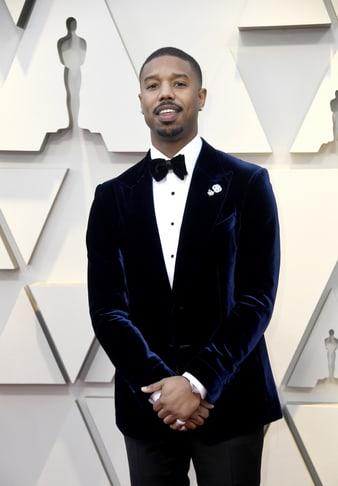Michael B Jordan wears a Piaget Tourbillon watch