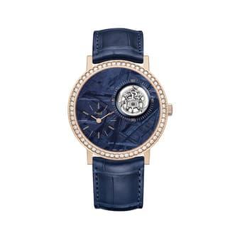 luxury tourbillon watch in rose gold
