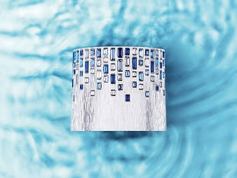 G36M3400 Brazalete cuff de lapislázuli y diamante Sunny Side of Life