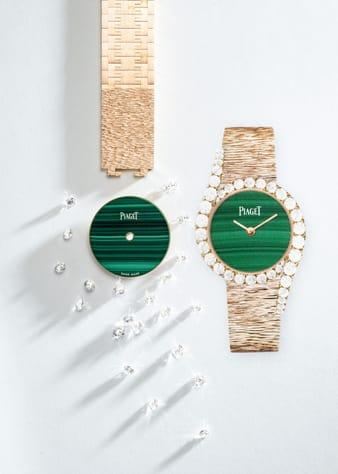 Horlogerie de luxe: montre Limelight Gala en or rose et diamants