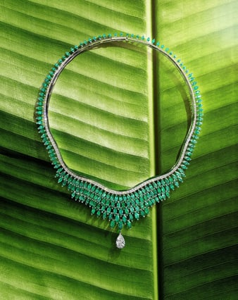 piaget golden oasis high jewellery necklace