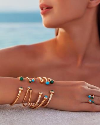Possession rose gold and diamond bracelets