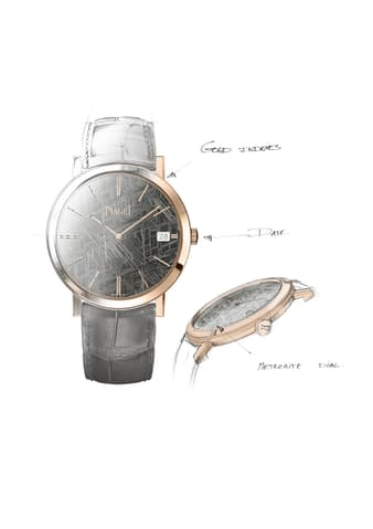 hard stone dial on ultra-thin watch