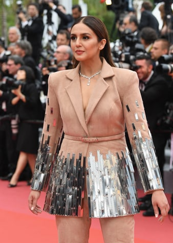 Huma Qureshi in Piaget diamond jewellery in Cannes