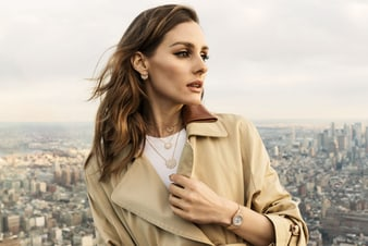 Olivia Palermo wearing gold and diamond jewellery