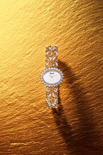 Montre or rose et diamant Sunny Side of Life G0A41263