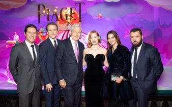 Piaget window showcases inauguration at Galeries Lafayette