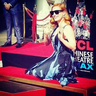 ジェシカ・チャステインがハリウッド・ウォーク・オブ・フェイムのセレモニーに登場