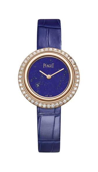 Montre suisse en or, diamants et lapis-lazuli Piaget