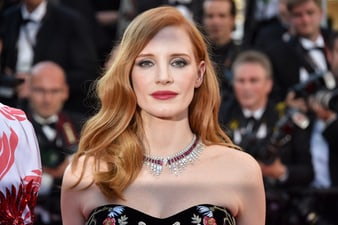 Jessica Chastain wearing Piaget at Cannes film festival
