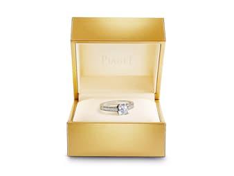 anillo de compromiso de diamantes Piaget