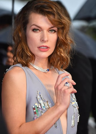 Milla Jovovich in Piaget high jewelry in Cannes