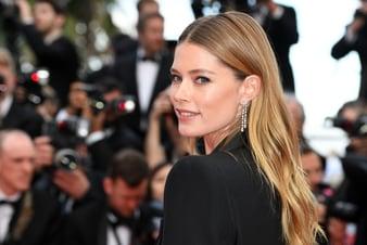 Doutzen Kroes in Piaget diamond high jewelry in Cannes