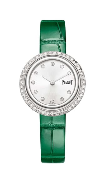 white gold and diamonds watch for women by Piaget