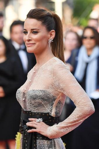カンヌ国際映画祭でSunlight Journeyのダイヤモンドリングとイヤリングを身に着けたマリア・ジョアン